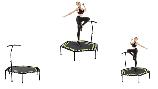 ONETWOFIT 48-Inches Silent Mini Rebounder Trampoline